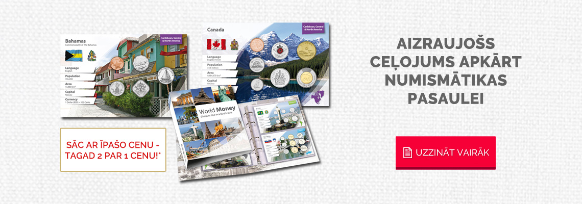 """Kolekcija """"Pasaules nauda"""", pirmajā sūtījumā – Bahamas un Kanāda"""