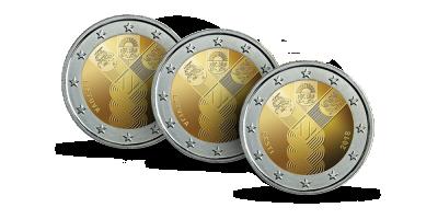 """Monētu kolekcija """"Jubilejas 2 eiro monētas"""", pirmais sūtījums - """"Baltijas valstu simtgades kopprojekts"""""""