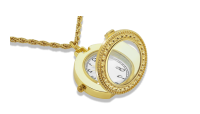 Īpaša kaklarota – pulkstenis ar palielināmo stiklu