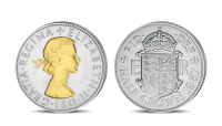 Queen Elizabeth II Half Crown Coin