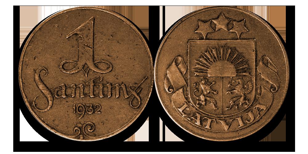 Autentisku latviešu monētu komplekts1