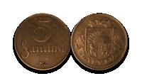 Autentisku latviešu monētu komplekts3