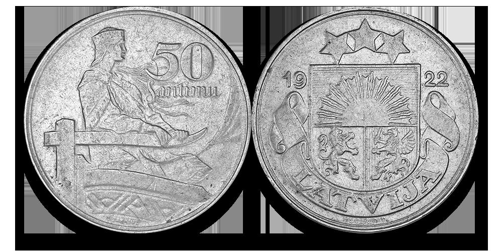 Autentisku latviešu monētu komplekts6