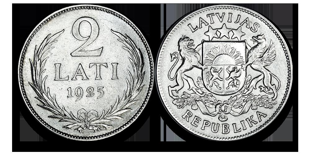 Autentisku latviešu monētu komplekts8