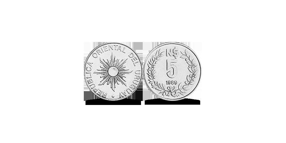 5 Urugvajas jaunie peso
