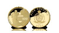IIHF Pasaules Čempionātam Hokejā 2021 veltīta zelta monēta