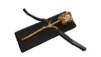Īsta roze ar tīra 24 karātu zelta pārklājumu