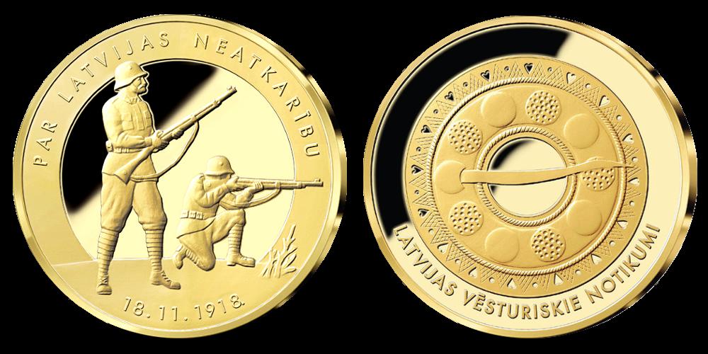 Latvijas neatkarības medaļu komplekts