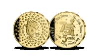 """Antuāna de Sent-Ekziperī grāmatas """"Mazais princis"""" izdošanas 75. gadadienai veltītā zelta monēta"""