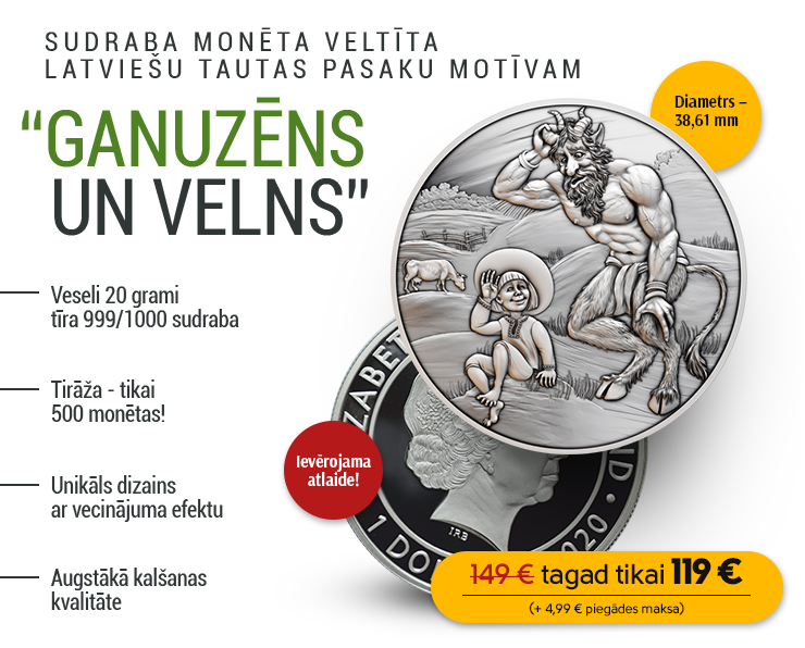 "Tīra sudraba monēta ""Ganuzēns un velns"""