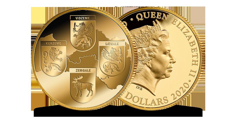 """Tīra zelta monēta """"Latvijas etnogrāfiskie reģioni"""""""
