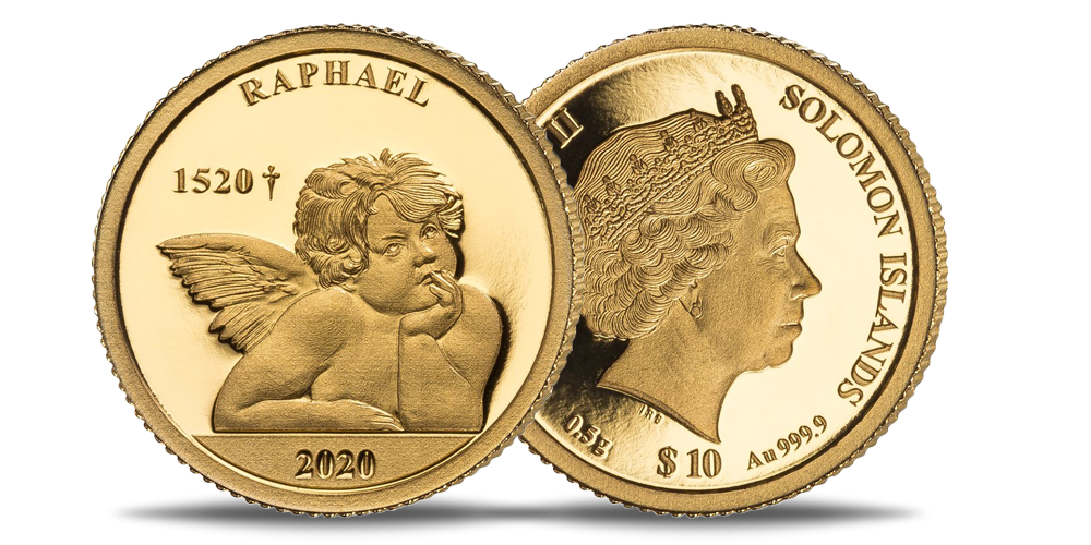 """Tīra zelta monēta """"Rafaēla eņģeļi"""""""