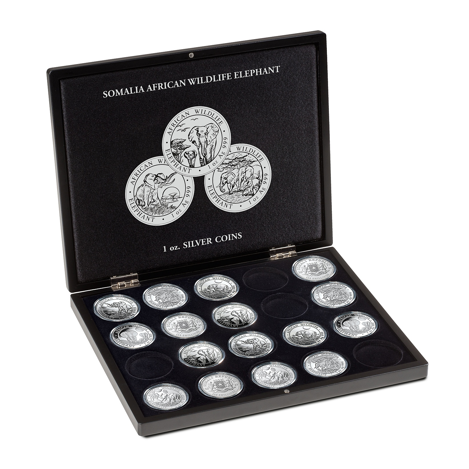 presentation-case-for-20-somalia-elephant-silver-coins-1-oz-in-capsules-2