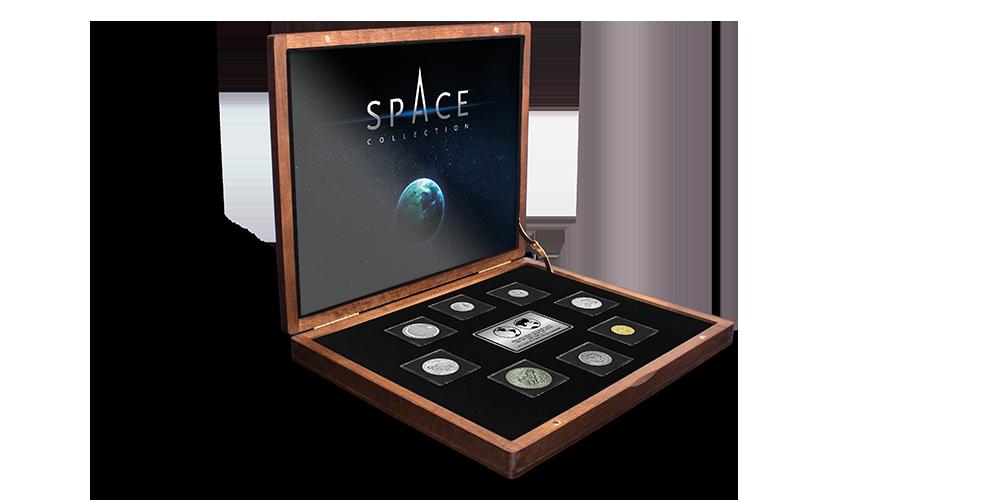 """Autentisku monētu komplekts """"Kosmosa iekarošana""""2"""