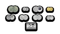 """Autentisku monētu komplekts """"Kosmosa iekarošana"""""""