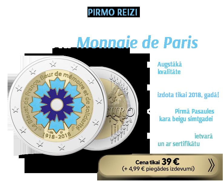 """Piemiņas 2€ monēta - """"Rudzupuķe"""""""