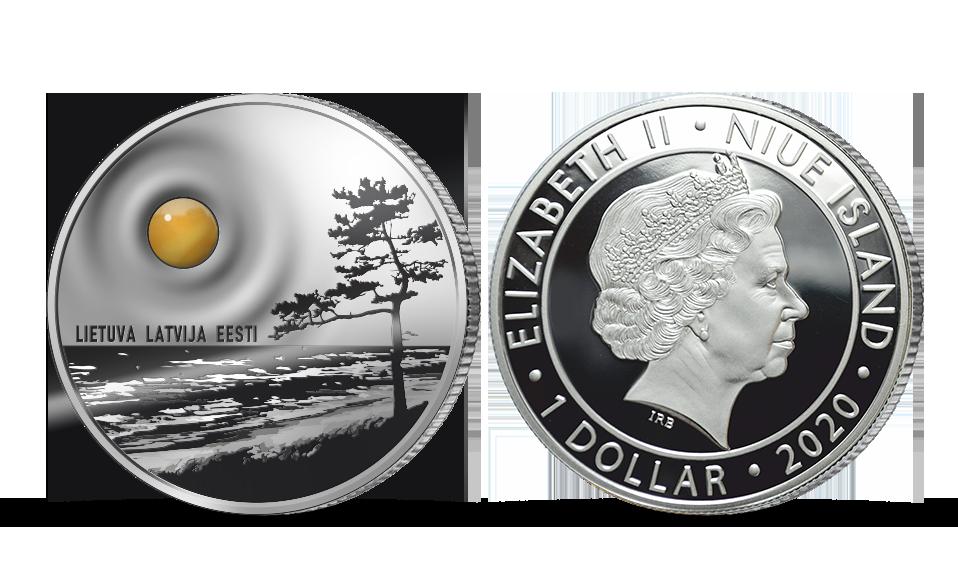"""Sudraba monēta """"Baltijas jūras dzintars"""""""
