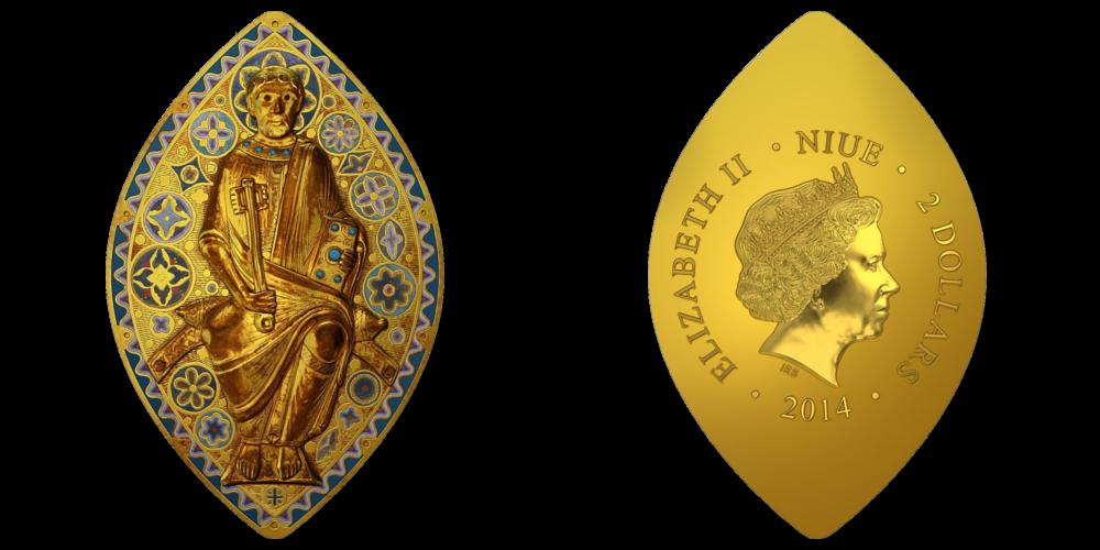 """Apzeltīta sudraba monēta """"Svētais Pēteris"""""""