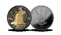 """Tīra sudraba monēta """"Žurkas gads"""""""