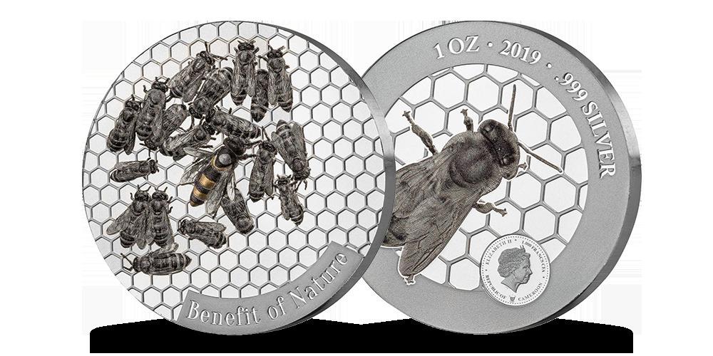 """Tīra sudraba monēta """"Medus bite"""""""