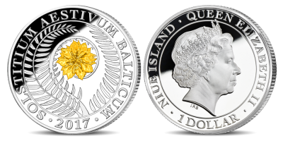 Tīra sudraba monēta veltīta Jāņu nakts simbolam – papardes ziedam