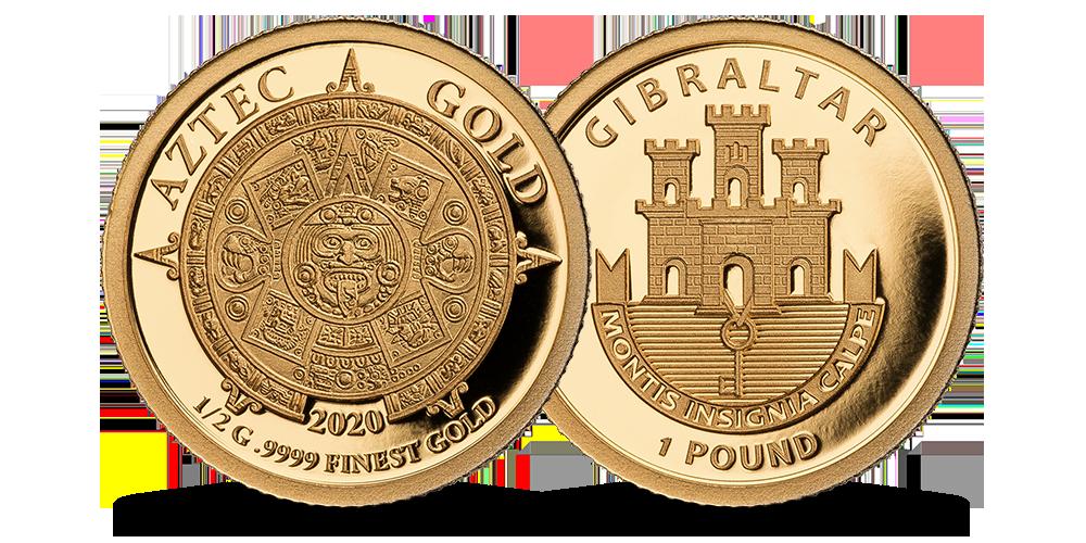 """Tīra zelta monēta """"Acteku zelts"""""""
