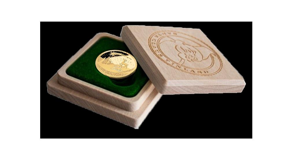 """Zelta monēta """"Ziemassvētki"""""""