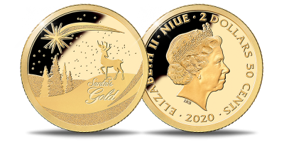 """Tīra zelta monēta """"Ziemassvētki"""""""
