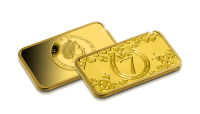 """Zelta izstrādājums """"Veiksmes monēta"""""""