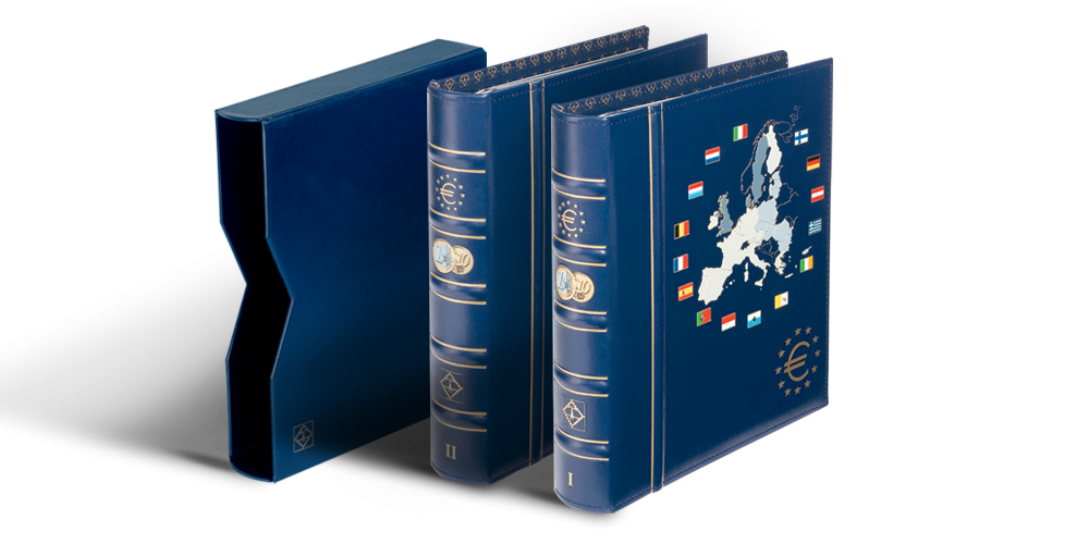 VISTA eiro monētu albums: 1. 2. sējums