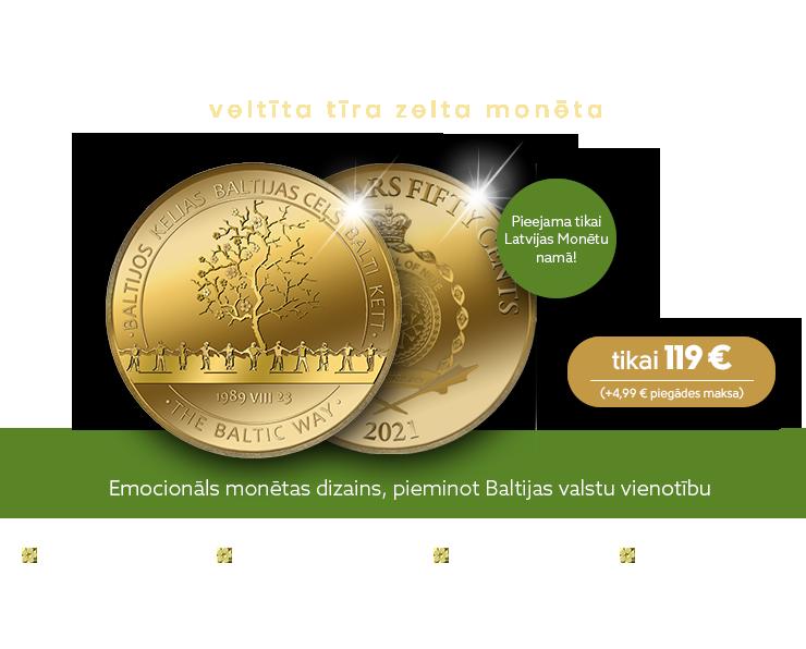 """Zelta monēta """"Baltijas ceļš"""""""