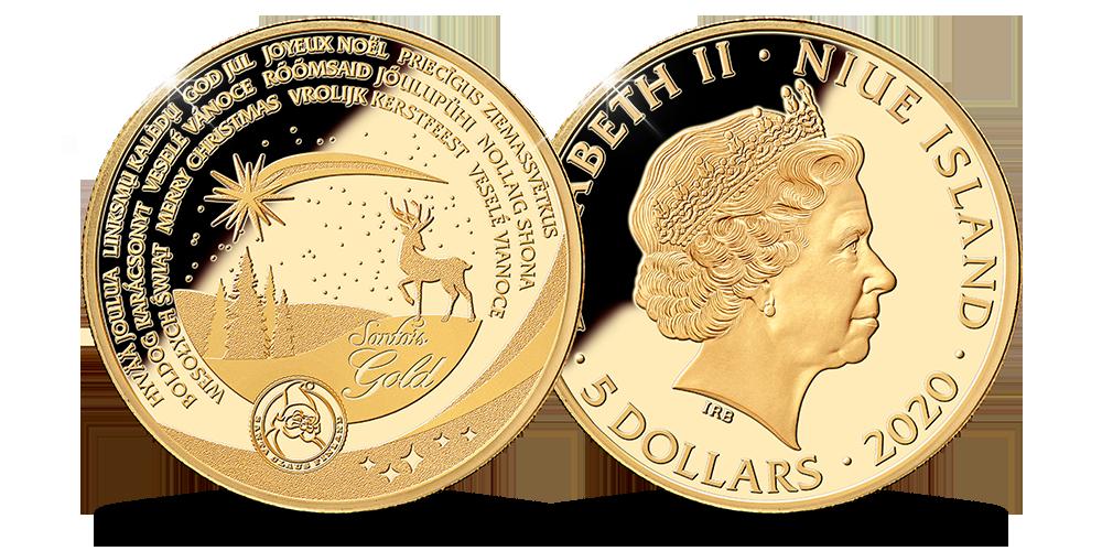 Ziemassvētku monēta no Lapzemes zelta