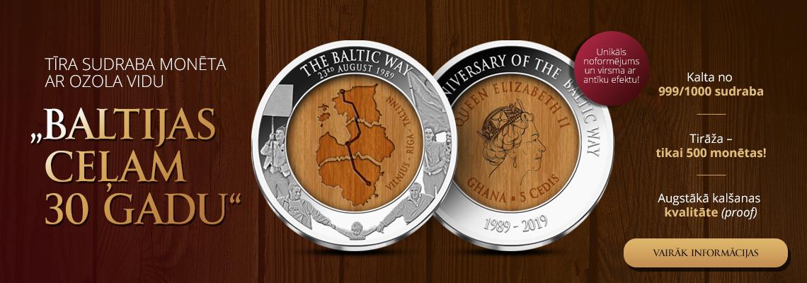 Sudraba monēta - Baltijas celam 30 gadu